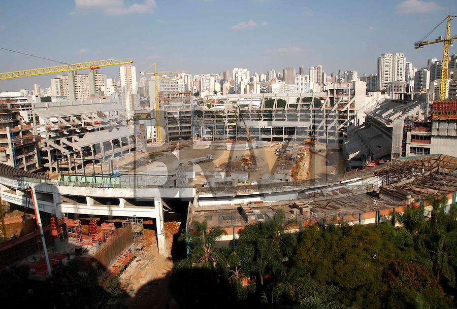 SÃO PAULO,SP,06 AGOSTO 2012 - VISTA OBRAS ARENA PALESTRA<br /> Vista das obras da Arena Palestra.FOTO ALE VIANNA/BRAZIL PHOTO PRESS.