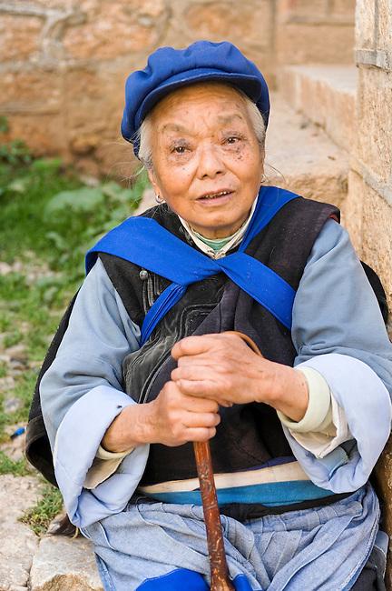 Elder of Ji Chang Han Village still dress in tradition of Ming Dynasty, Chinese