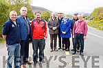Local motorists are calling on Kerry County Council to find a solution to help them come off the old Ballincleave Road onto the main Ring of Kerry Road before a serious accident takes place. <br /> Front left to right Gerald Kelly, Cllr Michael Cahill and Darren Roche. <br /> Middle left to right John Mulvihill (Red Fox Inn), Marian Griffin and Mike Corkery. <br /> Back left to right John O'Sullivan and John Walsh.