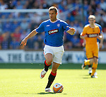 Jerome Rothen sprints down the wing on his debut for Rangers