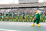 North Texas Mean Green cheerleaders in action during the Zaxby's Heart of Dallas Bowl game between the Army Black Knights and the North Texas Mean Green at the Cotton Bowl Stadium in Dallas, Texas.