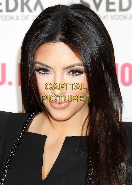 "KIM KARDASHIAN .""Battle Of The Bots"" Sponsored by Svedka Vodka at Wonderland,  Hollywood, California, USA, .22nd May 2010..portrait headshot black make-up chain .CAP/ADM/MJ.©Michael Jade/AdMedia/Capital Pictures."