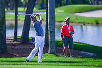 Justin Thomas (USA) watches his approach shot on 9 during round 2 of the Honda Classic, PGA National, Palm Beach Gardens, West Palm Beach, Florida, USA. 2/24/2017.<br /> Picture: Golffile | Ken Murray<br /> <br /> <br /> All photo usage must carry mandatory copyright credit (&copy; Golffile | Ken Murray)
