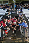 DJ Forbes leads the Steelers out of the tunnel to start the second half. Air New Zealand Air NZ Cup warm-up rugby game between the Counties Manukau Steelers & Tasman Mako's, played at Growers Stadium Pukekohe on Sunday July 20th 2008..Counties Manukau won the match 30 - 7.