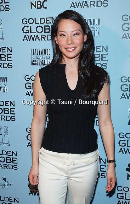 Lucy Liu was presenting the 2002 Golden Globe Nomination at the Beverly Hilton Hotel in Los Angeles. December 20, 2001.          -            LiuLucy01.jpg