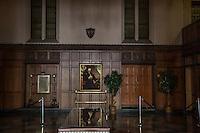 Masonic Temple of Detroit atrio con immagine di Lincoln
