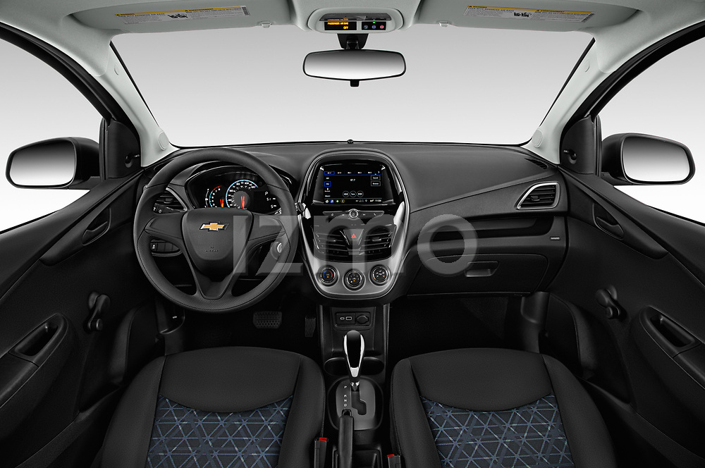 Stock photo of straight dashboard view of a 2019 Chevrolet Spark LS Select Doors Door Hatchback