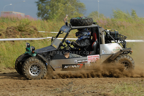 Small but very fast buggy, racing at the Rallye Dresden Breslau 2007. --- No releases available. Automotive trademarks are the property of the trademark holder, authorization may be needed for some uses.