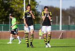 V&auml;llingby 2015-05-09 Fotboll Damallsvenskan AIK - Kristianstads DFF  :  <br /> AIK:s Jennie Nordin och Eldina Ahmic deppar under matchen mellan AIK och Kristianstads DFF  <br /> (Foto: Kenta J&ouml;nsson) Nyckelord:  Fotboll Dam Damer Damallsvenskan AIK Gnaget Kristianstad Grimsta