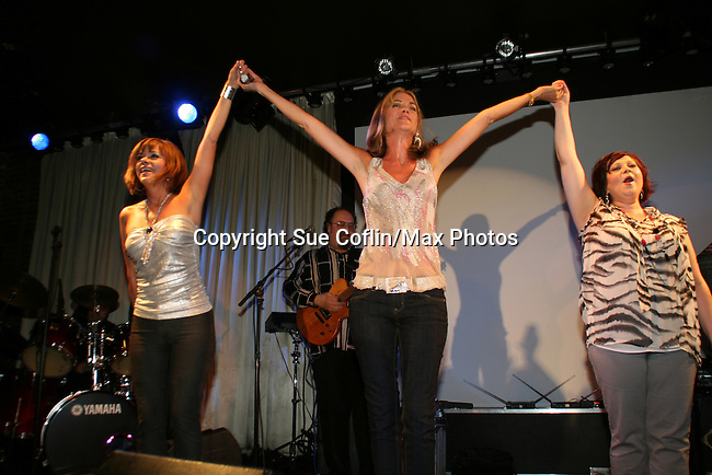 OLTL's Kassie DePaiva, AMC's Bobbie Eakes and OLTL's Kathy Brier at The Premiere of the Divas of Daytime TV Tour at New York City's Canal Room, New York on August 16, 2008. Performing are OLTL's Kathy Brier, Kassie DePaiva and AMC's Bobbie Eakes with AMC's Ricky Paull Goldin as MC. (Photo by Sue Coflin/Max Photos)