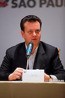 SAO PAULO, 29 DE JUNHO DE 2012. IV FORUM DAS SEDES DA COPA 2014.  O prefeito Gilberto Kassab durante o IV Forum das sedes da copa 2014 no Palacio dos Bandeirantes em São Paulo. FOTO: ADRIANA SPACA - BRAZIL PHOTO PRESS