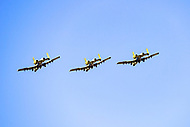 Morgantown, WV - NOV 10, 2018: Military flyover before game between West Virginia and TCU at Mountaineer Field at Milan Puskar Stadium Morgantown, West Virginia. (Photo by Phil Peters/Media Images International)
