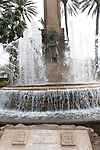 Fountain in Plaza de Espana, Melilla autonomous city state Spanish territory in north Africa, Spain