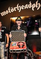 LAS VEGAS, NV - January 8: Lemmy Kilmister unveils Motorheadphones at the Consumer Electronics Show on January 8, 2013 in Las Vegas, Nevada. © Kabik/ Starlitepics / Mediapunch Inc /NortePhoto©