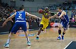 18.12.2019, EWE Arena, Oldenburg, GER, EuroCup 7Days, EWE Baskets Oldenburg vs Buducnost VOLI Podgorica, im Bild<br /> Rickey PAULDING (EWE Baskets Oldenburg #23 ) Nikola IVANOVIC (Buducnost VOLI Podgorica #2 ) Luka BOZIC (Buducnost VOLI Podgorica #29 )<br /> Foto © nordphoto / Rojahn