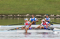 Sarasota. Florida USA.  Gold Medalis ITA M2- Bow. Matteo LODO and  Giuseppe VICINO,  Final A. 2017 World Rowing Championships, Nathan Benderson Park<br /> <br /> Saturday  30.09.17   <br /> <br /> [Mandatory Credit. Peter SPURRIER/Intersport Images].<br /> <br /> <br /> NIKON CORPORATION -  NIKON D500  lens  VR 500mm f/4G IF-ED mm. 320 ISO 1/1250/sec. f 8