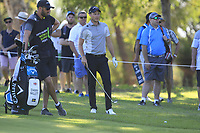 Danny Willett (ENG) in action on the 18th during Round 2 of the ISPS Handa World Super 6 Perth at Lake Karrinyup Country Club on the Friday 9th February 2018.<br /> Picture:  Thos Caffrey / www.golffile.ie<br /> <br /> All photo usage must carry mandatory copyright credit (&copy; Golffile   Thos Caffrey)