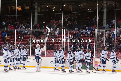 - The University of Maine Black Bears defeated the University of Connecticut Huskies 4-0 at Fenway Park on Saturday, January 14, 2017, in Boston, Massachusetts.