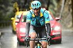 Omar Fraile (ESP) Astana Pro Team 1'15&quot; ahead during a wet miserable Stage 8 of the 2018 Paris-Nice running 110km from Nice to Nice, France. 11th March 2018.<br /> Picture: ASO/Alex Broadway | Cyclefile<br /> <br /> <br /> All photos usage must carry mandatory copyright credit (&copy; Cyclefile | ASO/Alex Broadway)