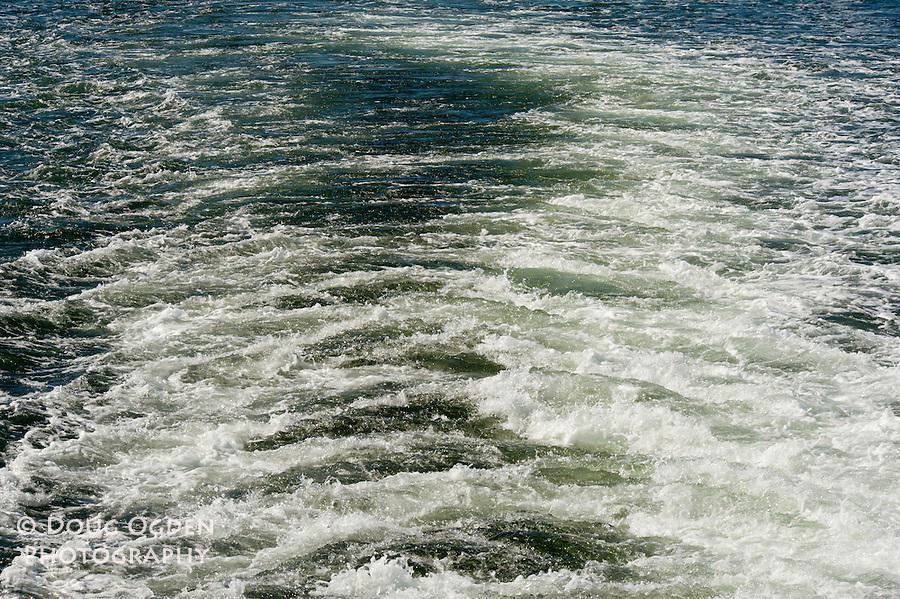 Boat wake.