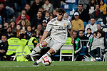 Real Madrid's Brahim Diaz during La Liga match between Real Madrid and SD Huesca at Santiago Bernabeu Stadium in Madrid, Spain. March 31, 2019. (ALTERPHOTOS/A. Perez Meca)