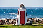 Shoreline lighthouse outhouse, Nova Scotia, Canada