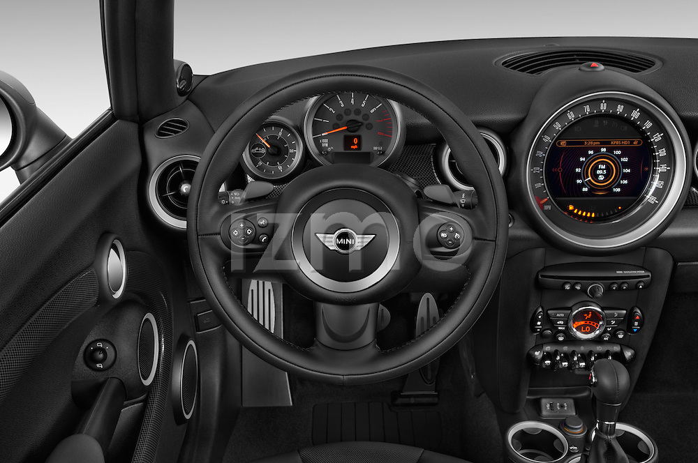 Car pictures of steering wheel view of a 2015 MINI Mini Cooper S 2 Door Convertible Steering Wheel