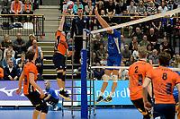 GRONINGEN - Volleybal, Abiant Lycurgus - Orion, Martiniplaza, Supercup , seizoen 2017-2018, 01-10-2017,  smash van Orion speler Erik van der Schaaf