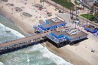 Aerial Photo of the San Clemente Pier and Fisherman's Restaurant