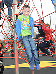 Cian Kearney pictured at the opening of the new playground in Dunleer. Photo: Colin Bell/pressphotos.ie