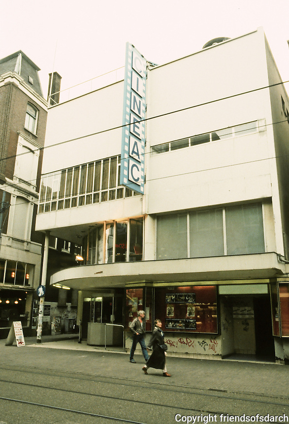 Johannes Duiker: Cinema Cineac, 1934. Amsterdam. (See Tafuri & Dal Co., MODERN ARCHITECTURE) Photo '87.