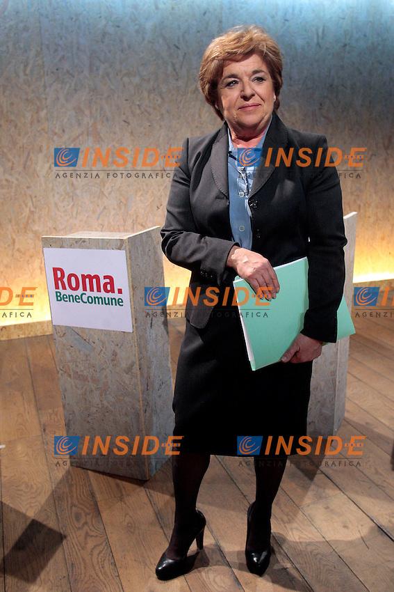 Gemma Azuni.Roma 04/04/2013 Confronto televisivo su YouDem dei candidati sindaco del centrosinistra che domenica si sfideranno alle Primarie..Photo Samantha Zucchi Insidefoto