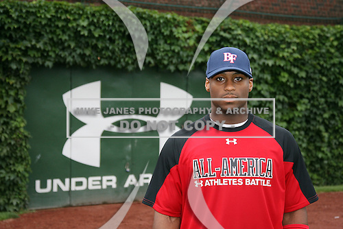 August 7, 2009:  Outfielder Reggie Golden (21) of Team One during the Under Armour All-America event at Wrigley Field in Chicago, Illinois.  (Copyright Mike Janes Photography)