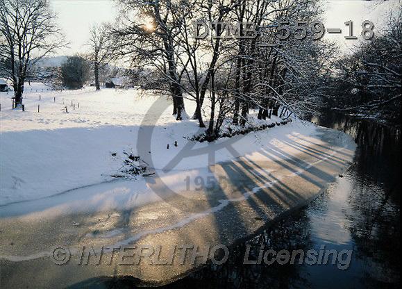 Gerhard, CHRISTMAS LANDSCAPE, photos, Vom 13-18 Dia.Bayern.Abendaufnahme an der Prien(DTMB559-18,#XL#) Landschaften, Weihnachten, paisajes, Navidad