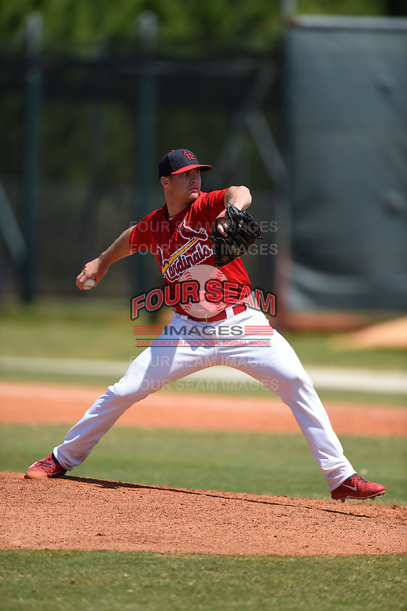 St. Louis Cardinals pitcher Tyler Waldron (41) during a minor league spring training game against the Miami Marlins on March 31, 2015 at the Roger Dean Complex in Jupiter, Florida.  (Mike Janes/Four Seam Images)