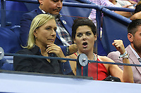 FLUSHING NY- AUGUST 29: Martina Navratilova and Debra Messing are seen during opening night ceremony on Arthur Ashe Stadium at the USTA Billie Jean King National Tennis Center on August 29, 2016 in Flushing Queens. Credit: mpi04/MediaPunch