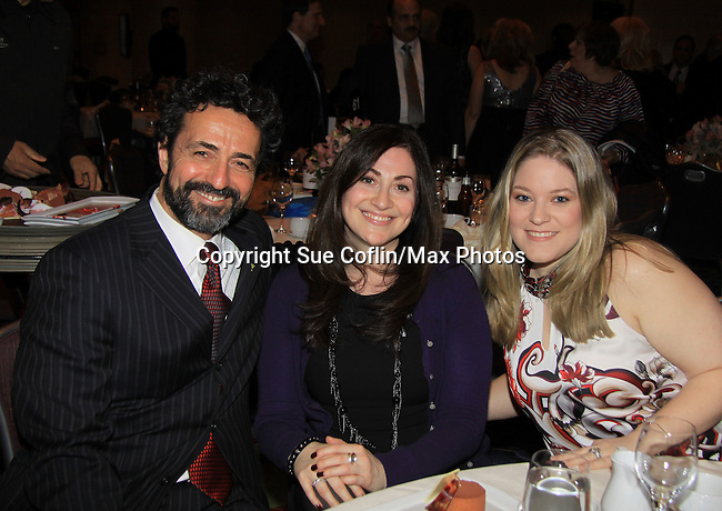 Another World's Stephen Schnetzer poses with Soap Opera Digest Stephanie Sloane and Beth Wasko on March 21, 2013 at the HeartShare 25th Annual Spring Gala and Auction at the New York Marriott, NYC, NY.  (Photo by Sue Coflin/Max Photos)