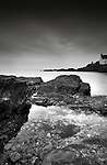 Moody shot of St Brides bay in pembroke, West Wales