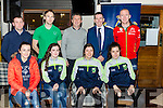 Some of the Randles Nissian/Radio Kerry sports star of the year winners at awards show in Kaynes bar Killarney on Monday evening l-r: Shona Heaslip, Ciara O'Brien, Ciara Murphy and Fiadhna Tangney. Back row: Dominick Lynch, Eamon Hickson Radio Kerry, Peter Keane, David Randle and Paul Nagle