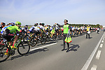 Cannondale-Drapac team member Pat from Galway hands out musettes to his riders as they pass through the first feed zone at Steenkerke during Gent-Wevelgem in Flanders Fields 2017 running 249km from Denieze to Wevelgem, Flanders, Belgium. 26th March 2017.<br /> Picture: Eoin Clarke | Cyclefile<br /> <br /> <br /> All photos usage must carry mandatory copyright credit (&copy; Cyclefile | Eoin Clarke)