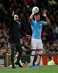 Josep Guardiola manager of Manchester City shouts at his players during the Carabao Cup match at Old Trafford, Manchester. Picture date: 7th January 2020. Picture credit should read: Darren Staples/Sportimage