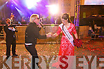 Luxembourg Rose Nicola McEvoy, the 2012 Rose of Tralee at the Denny Street stage on Tuesday for Midnight Madness.  Pictured dancing with the singer from the Bon Jovi Tribute Show.