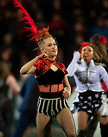 Half time entertainment during the 2018 Super Rugby final between the Crusaders and Lions at AMI Stadium in Christchurch, New Zealand on Sunday, 29 July 2018. Photo: Joe Johnson / lintottphoto.co.nz