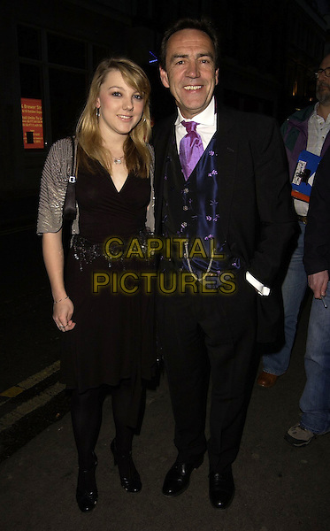 ROBERT LINDSAY & DAUGHTER (?).The Royal Court Theatre 50th Anniversary Gala Party, Titanic Nightclub, London, UK..April 26th, 2006.Ref: CAN.full length black suit dress.www.capitalpictures.com.sales@capitalpictures.com.©Capital Pictures