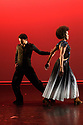 London, UK. 09.05.2018. Step Change Studios present their ballroom show Fusion, at Sadler's Wells' Lilian Baylis Studio. Fusion is the UK's first inclusive Latin and ballroom dance showcase by disabled and non-disabled artists, drawing on different dance influences such as swing and contemporary to develop original pieces inspired by Latin and ballroom. Picture shows: TANGO TRANSITIONS, created by Anna Alvarez, performed by Louise Dickson and Gonzalo Ferro. Photograph © Jane Hobson.. Photograph © Jane Hobson.
