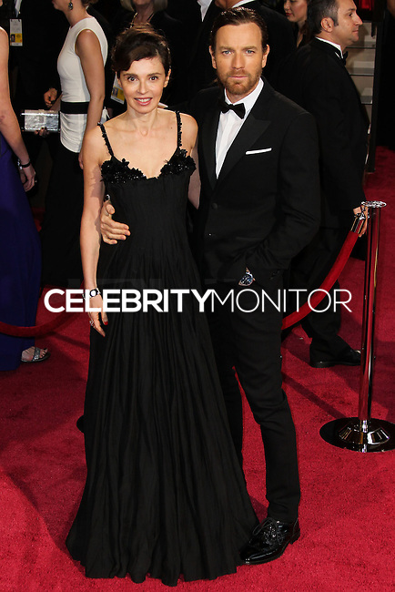 HOLLYWOOD, CA, USA - MARCH 02: Eve Mavrakis, Ewan McGregor at the 86th Annual Academy Awards held at Dolby Theatre on March 2, 2014 in Hollywood, Los Angeles, California, United States. (Photo by Xavier Collin/Celebrity Monitor)