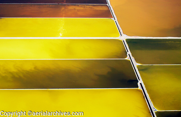 aerial photograph salt ponds Napa County, California