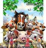 Howard, SELFIES, paintings+++++,GBHR874B,#Selfies#, EVERYDAY ,horses