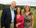 WATERBURY, CT-0712817JS05--Marty and Linda Scully with Arlene Junko, right, at the Waterbury Lions Club's annual Installation Dinner at the Waterbury Country Club. <br /> Jim Shannon Republican-American