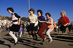 Shrove Tuesday Skipping Scarborough Yorkshire UK.